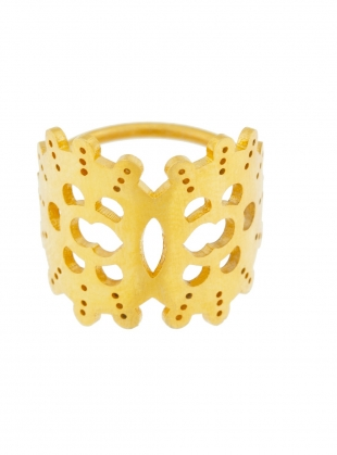 Young British Designers: GWENDOLYN Gold Ring - last one by Joanna Cave