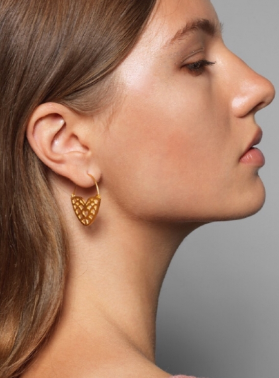 Young British Designers: RAMONA Gold Earrings - last pair by Joanna Cave