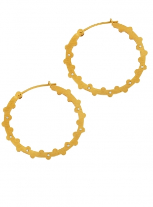 LESEDI Gold Hoop Earrings with White Sapphires by Joanna Cave