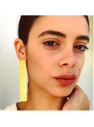 MILAN Long Single Gold Earring by Joanna Cave