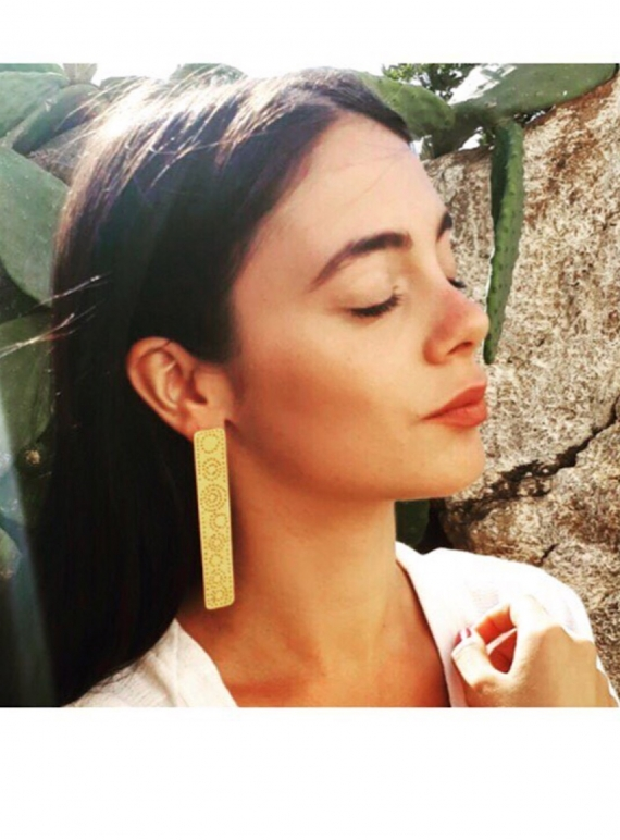 Young British Designers: MILAN Long Single Gold Earring by Joanna Cave