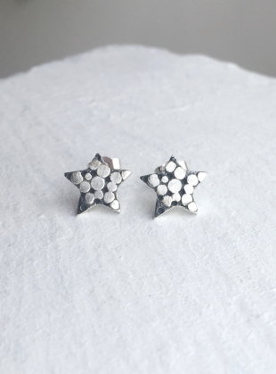 PALLENBERG SILVER STAR STUD EARRINGS  by Peculiar Vintage