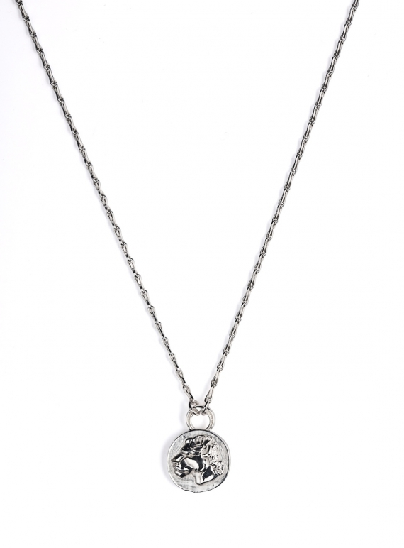 Young British Designers: Sterling Silver Reversible Lioness Pendant by Mikaela Lyons