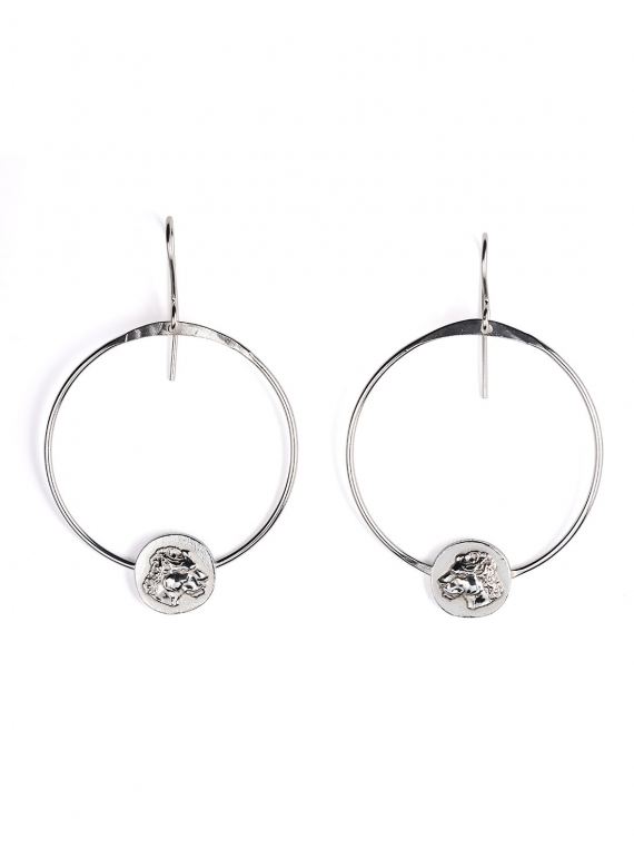 Silver Lioness Hoop Earrings by Silver Lioness Hoop Earrings