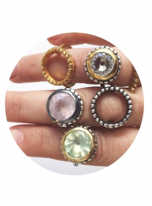 Young British Designers: PALLENBERG COCKTAIL RING IN CLEAR TOPAZ by Peculiar Vintage