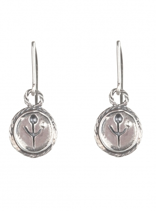 SILVER EMPANDA SYMBOL EARRINGS by BOODI Jewellery