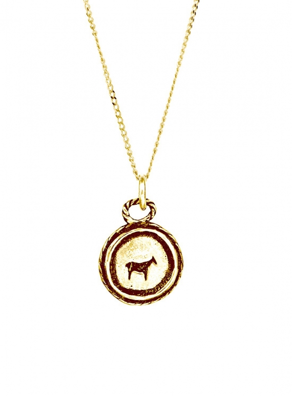 Young British Designers: BAU ANIMAL NECKLACE in Recycled 9K Gold by BOODI Jewellery