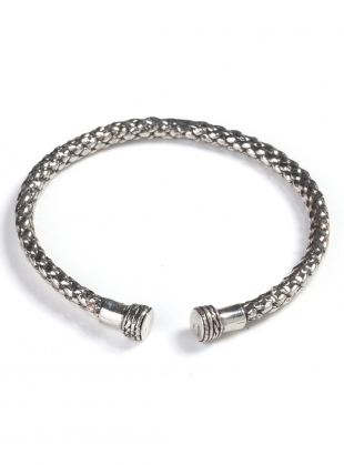 SOLID RECYCLED SILVER DEA DIA BANGLE- last one  by BOODI Jewellery
