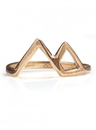 GOLD VESUVIUS MOUNTAIN RING by BOODI Jewellery