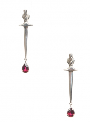 DAGGER Drop Earrings by Clio Peppiatt