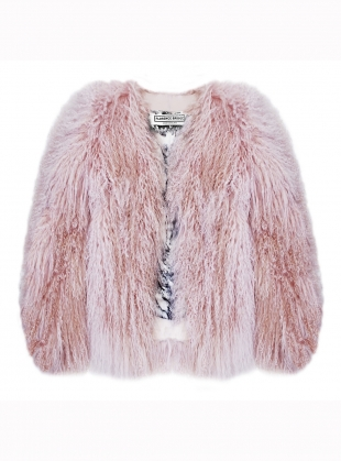 Matilda Shearling Jacket in Powder Pink by Florence Bridge
