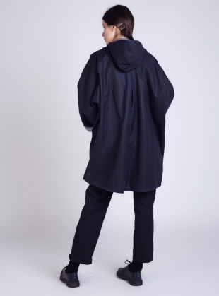 Young British Designers: BATWING Waxed Cotton Coat in Navy and Regatta - last one by Kate Sheridan