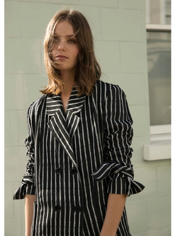 Young British Designers: GENTLE SONG Striped Coat by Kelly Love