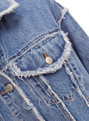 Young British Designers: Oversized & Frayed Denim Jacket - Last one by REMAIN STUDIO