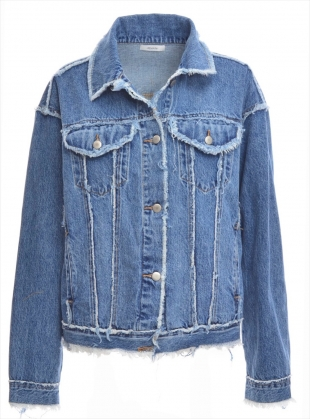 Oversized & Frayed Denim Jacket - Last one by REMAIN STUDIO