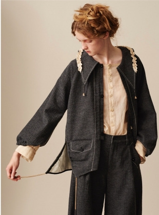Young British Designers: ARTISAN CRAFTED WOOL JACKET by Renli Su