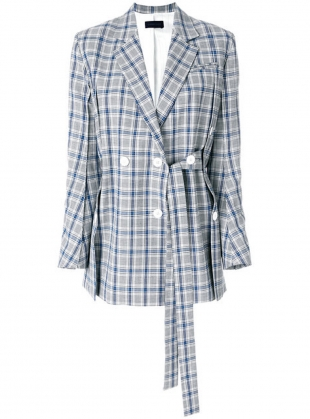 BRIDGET GREY CHECK BLAZER by Eudon Choi