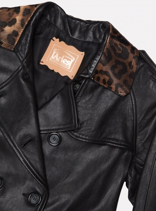 Young British Designers: Leather Leopard Mac - Last one by Aries