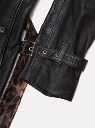 Young British Designers: Leather Leopard Mac - Last one (S) by Aries