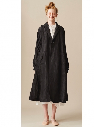 LONG BLACK MULBERRY SILK COAT - Last one by Renli Su