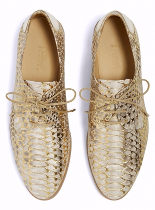 LOVERS BROGUES in Gold Snake - Last pair by Rogue Matilda