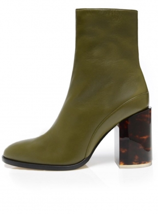 SPIRIT Boot in Olive/Tortoise (Limited Edition) by Dear Frances
