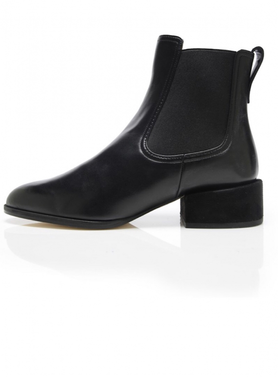 Young British Designers: GEM Ankle Boot in Black - Last pair (35) by Dear Frances