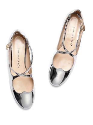 LOVER FLAT PUMPS IN SILVER by Camilla Elphick