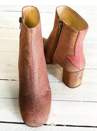 SILVER LINING BOOTS IN DISCO PINK by Camilla Elphick