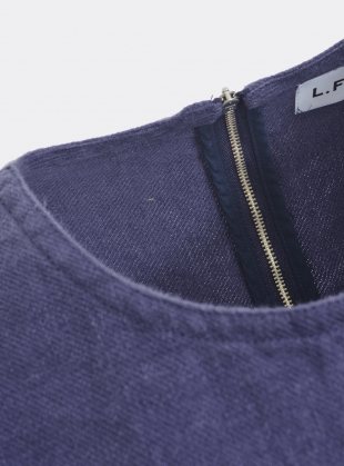 Young British Designers: HARLEY OVERSIZED TOP IN NAVY LINEN by LF Markey