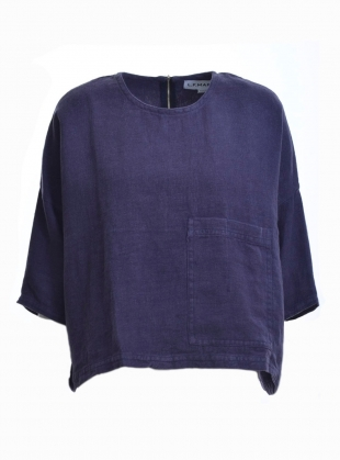 HARLEY OVERSIZED TOP IN NAVY LINEN by LF Markey