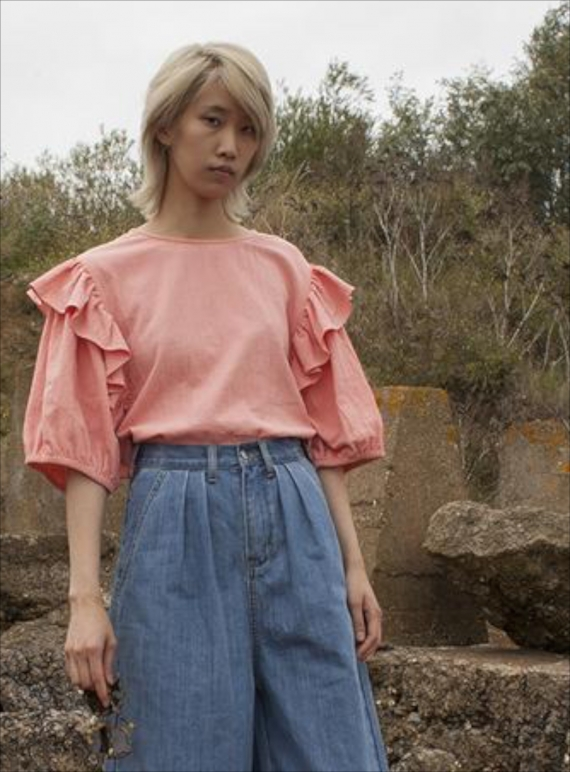 Young British Designers: FORREST TOP IN SALMON - last one by LF Markey