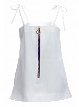 Young British Designers: ME EMBROIDERED WHITE TOP - last one by Moon Lee Artwear
