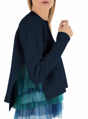Opera Navy and Tulle Knit by in.no