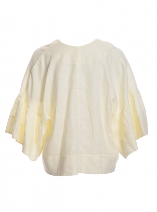 Young British Designers: RITA-JO Linen Top in Off-White by Beaumont Organic
