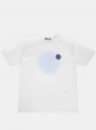 Young British Designers: White Maritime T-Shirt - Last one by Bruta