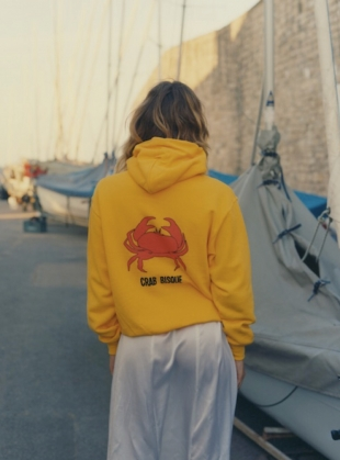 Yellow Crab Bisque Hoodie - last one by Bruta