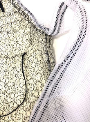 Young British Designers: CREAM LACE AND NET TOP - last one by Longshaw Ward