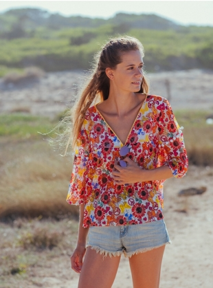 MEADOW PRINT BUTTERFLY Blouse - last one by Ziiga
