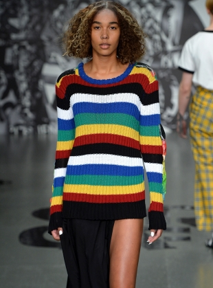 COTTON KNIT STRIPE JUMPER  by Caplan Entwisle