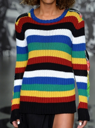 Young British Designers: COTTON KNIT STRIPE JUMPER  by Caplan Entwisle