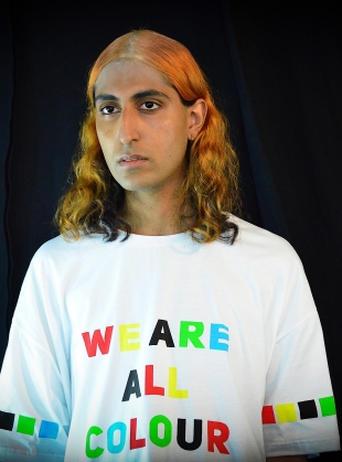 Young British Designers: WE ARE ALL COLOUR HERE Oversized Tee by Caplan Entwisle