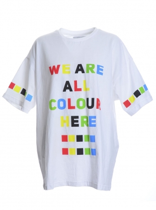 WE ARE ALL COLOUR HERE Oversized Tee by Caplan Entwisle