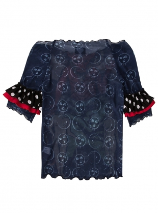 Young British Designers: The DEVIL Polka Mesh Top by Clio Peppiatt