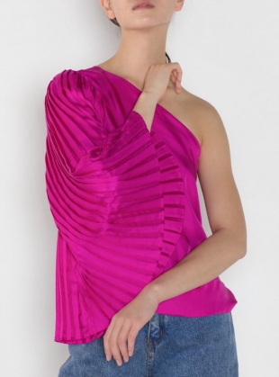 Young British Designers: ANGEL One Sleeve Top in Fuschia - last one by LISOU