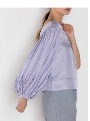 Young British Designers: AZALEA One Sleeve Top in Lilac  by LISOU