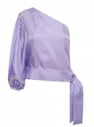 AZALEA One Sleeve Top in Lilac  by LISOU