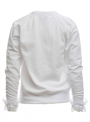 Young British Designers: LUNA Embroidered Jumper White by Clio Peppiatt