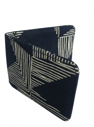 TRAVEL CARD HOLDER. Navy Kindred Print by Kate Sheridan