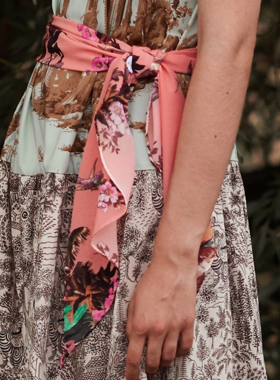 Young British Designers: The Razor Scarf. Hazed Sunset - last one by Klements